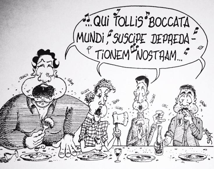 Caricatura coro SATB Sinclair