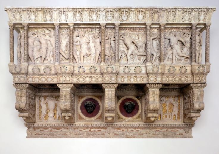 Cantoría de Donatello con sus relieves de querubines danzantes
