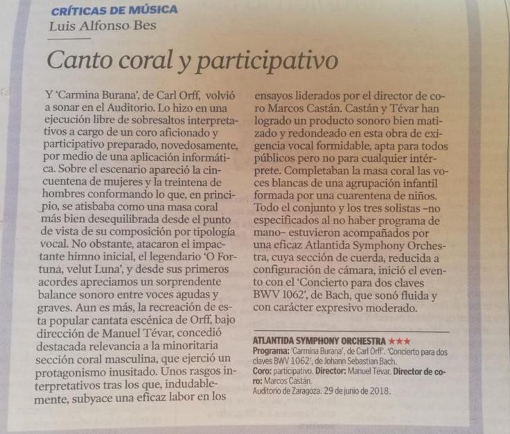 crítica Singerhood Heraldo de Aragón