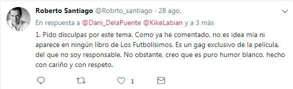 Roberto Santiago Twitter Futbolísimos Coro
